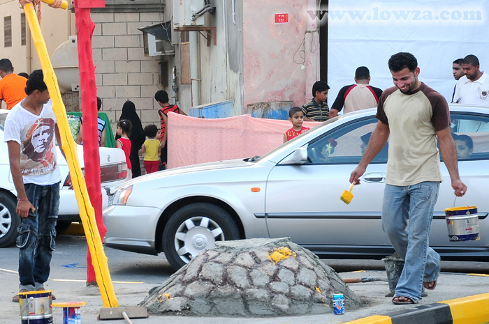 المرحوم الشاب جاسم أحمد يوسف أثناء مشاركته بمولد الإمام المنتظر (ع) 2009م